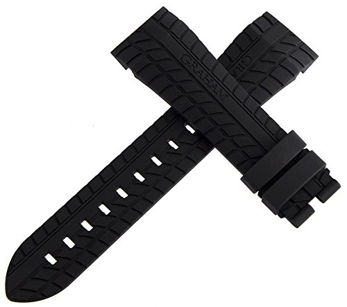 OEM Graham Schwarz Silverstone Rubber Strap Watch Band 24 mm