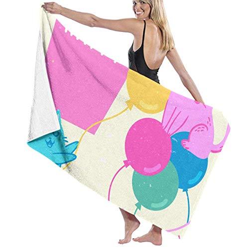 Gebrb Duschtücher/Badetücher,Strandtücher, Women's Bath Towel Wrap - Birthday Party Travel Waffle Spa Beach Towel Wrap for Girls