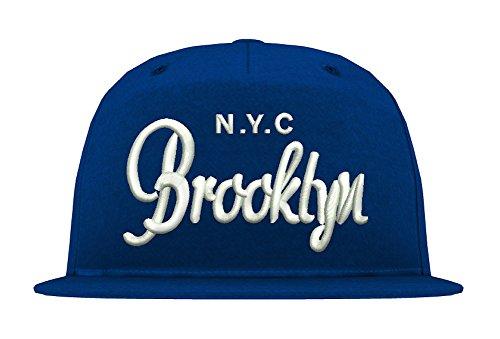 TRVPPY 5 Panel Snapback Cap Modell NYC Brooklyn, Weiß-Royalblau, B610 - Tisa Hat