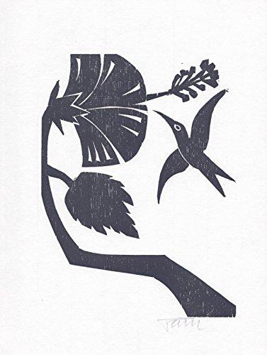 Original-Holzschnitt von Alfred Pohl zu einem Gedicht von Octavio Paz.