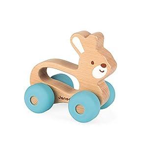 Janod - Conejito Baby Pop Animal de madera para Pasear (J04612)