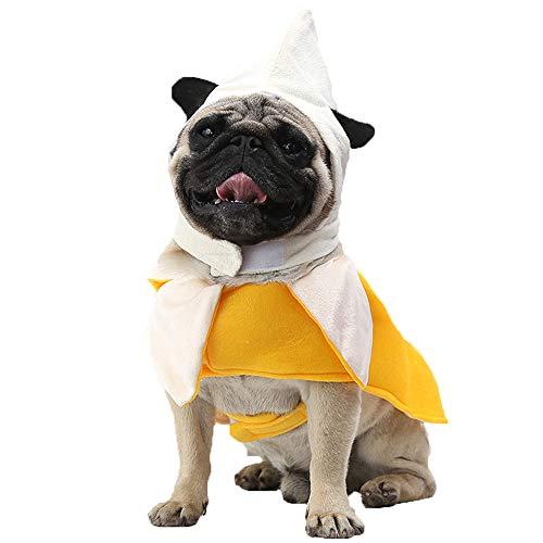 Banana Kostüm Kleid - YCGG Hund Kleidung Cosplay,Welpen Mantel Hund Pet Kostüm Banana transformiert Kleid Cosplay verkleiden Sich stehende Kleidung(M,Gelb)