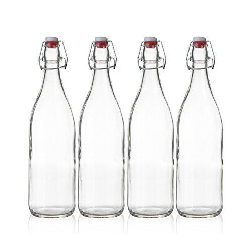 Pura elegancia. Máxima calidad. Es lo que define la botella de Seacoast Swing Top. Están fabricadas de vidrio duradero, transparente, grueso para mayor resistencia. Las botellas de cristal vienen en un conjunto de 4 para su uso sin fin como almacenar...