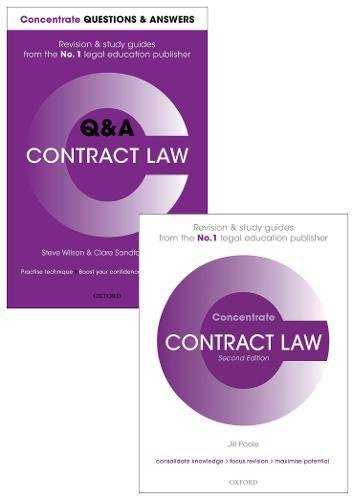 Contract Law Revision Pack: Law revision and study guide (Concentrate)
