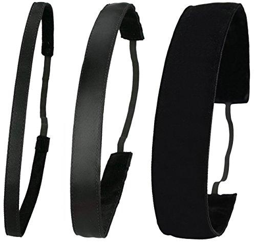 Preisvergleich Produktbild Ivybands® / Das Anti-Rutsch Haarband / Black Edition / Schwarz Superthin ,  Klassisch Schwarz,  Schwarz Extra Breit One Size / IVY003 IVY001 IVY026