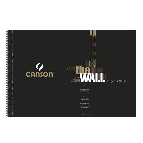CANSON ZeichenpapierSpiralblock ´The WALL´, A3, 220 g qm