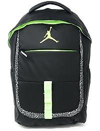 54fafb4f1540 NIKE Jordan Logo Jumpman School Laptop Backpack Black Reflective  Graphic Volt Yellow