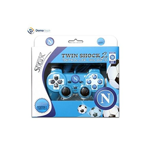 Techmade PS2-DS-SCN Twin Shock 2 Controller Playstation 2, Azzurro