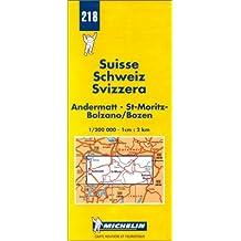 Carte routière : Andermatt - St-Moritz - Bolzano/Bolzen, N° 218