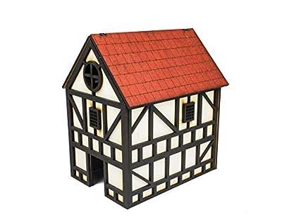 WWG Medieval Town - Maison médiévale à Deux étages (Peinte/Non Peinte) - 28mm Wargaming Maquettes Dioramas