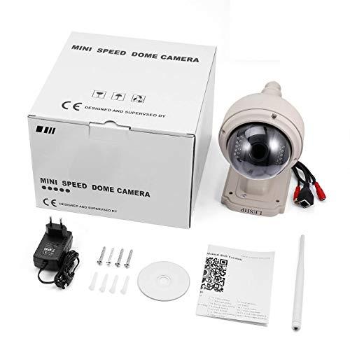 Jasnyfall LESHP 1.3MP 4X Zoom Mini-WiFi-Wireless-IP-PTZ-Dome-Outdoor-Überwachungskamera Grauer EU-Stecker