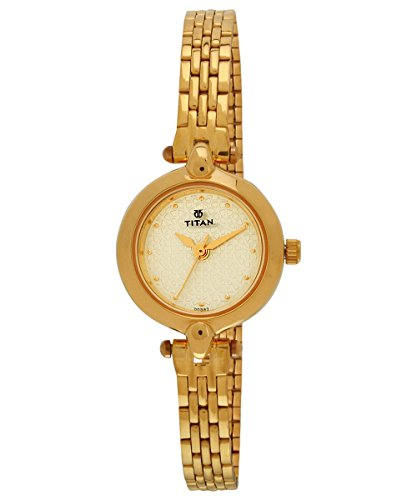 Titan Karishma Analog Beige Dial Women's Watch -2521YM01