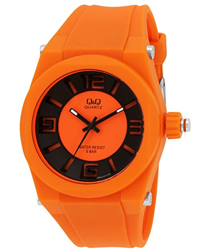 Q&Q Regular Analog Orange Dial Men's Watch - VR32J009Y image