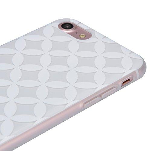 Cover per iPhone 7, Custodia per iPhone 7, Sunroyal Creativo Cover Soft Morbida in Silicone Gel Gomma TPU Ultra Thin Slim con Bordo Protezione Fotocamera e Tappo Antipolvere per iPhone 7 (4.7 pollice) Modello 05