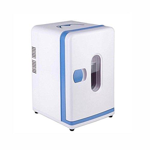 HuanLeBao thermoelektrische Kühlbox, 12 Liter, anschlussfertig für den PKW, 12-Volt, Kühlen und Heiz-Funktion, tragbarer Mini-Kühlschrank , Weiß , 12L