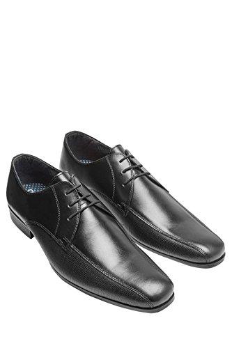 next Homme Chaussures À Lacets avec Empiècement Texturé Noir