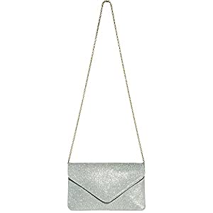 414G5w108vL. SS300  - Caspar TA357 Bolso de Mano Fiesta Elegante para Mujer Clutch Brillo