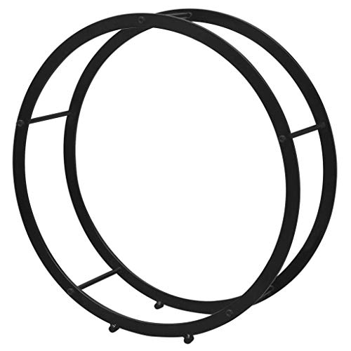 vidaXL Supporto Porta Legna da Ardere Acciaio Rotondo Stand Portalegna Esterno