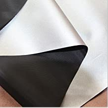Resistente al agua plata y silverout UV proteger resistente al agua gamuza de tela Ultra ligero Gobo bloqueador solar sombra, negro, 1 yard