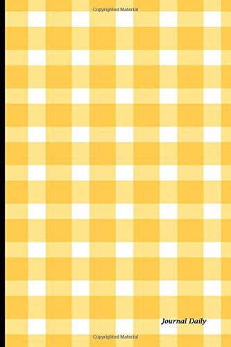 Journal Daily: Yellow Tablecloth,lined Blank Journal Book, 6 X 9, 150 Pages,paperback,6 X 9 15.24 X
