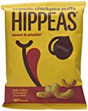 Hippeas Organic Chickpea Puffs, Sweet and Smokin 22g (Pack of 24)