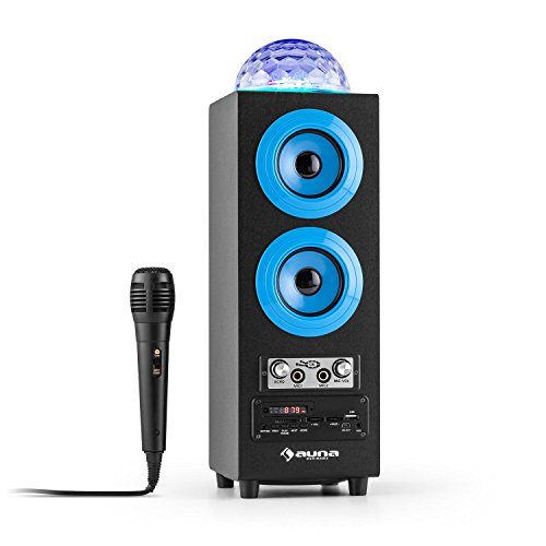 auna DiscoStar altoparlante portatile speaker wireless (Bluetooth, USB, SD, Jellyball