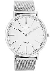 Oozoo Vintage Armbanduhr Weiß/Silber C7385