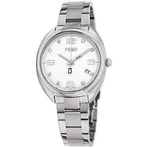 Fendi Momento White Dial Stainless Steel Men's Watch F211034000D1