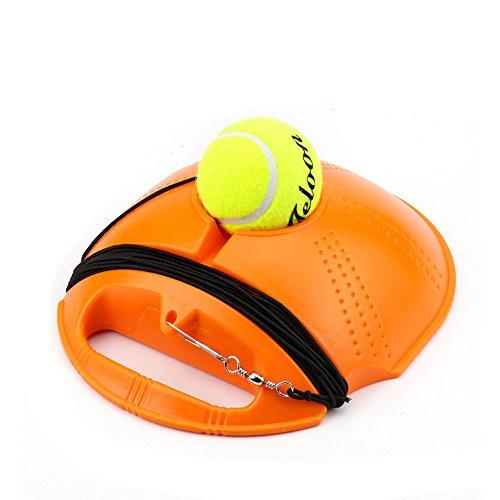 YEARGER Tennis Trainingsgeräte, Selbststudien Rebound Ball mit Tennis Trainer Baseboard Tennisplatzzubehör