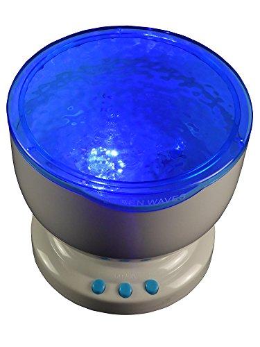 Wellness LED-Lampe glitzerndes Meer Entspannungslampe, relaxen chillen im Badezimmer
