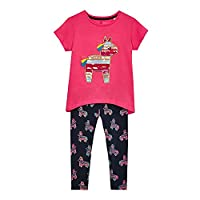 Bluezoo Kids Girls' Pink Pinata Applique Top And Leggings Set 18-24 Months