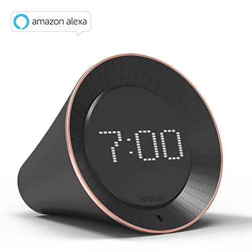 Vobot Smart Alarm Clock mit Amazon Alexa/Zeitplanverwaltung/Radiowecker/Snooze & Nap Funktion/Timer/WIFI/ LED Dot- Matrix Display