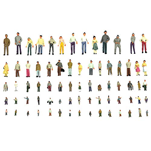 ck 1:100 BAU-Layout bemalte Modellfiguren für Miniatur-Szenendekoration ()