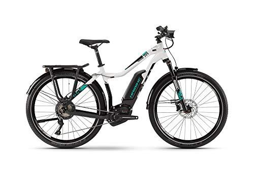 Haibike Sduro Trekking 7.0 Damen Pedelec E-Bike Fahrrad grau/schwarz/türkis 2019: Größe: S