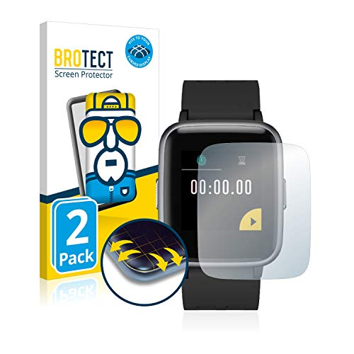 2X BROTECT Flex Full-Cover Displayschutz Schutfolie für Yamay Fitness Tracker SW020 (kristallklar, Edge to Edge, Self-Healing, stoßabsorbierend)
