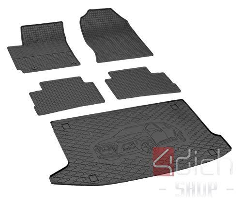Passgenaue Kofferraumwanne und Gummifußmatten geeignet für Hyundai Kona ab 2017 - EIN Satz