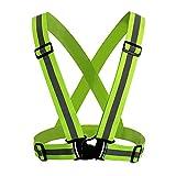Reflektorweste Laufweste-Verstellbare Warnweste für erhöhte Sichtbarkeit & Sicherheit, Reflektierende Sicherheitsweste für Läufer, Jogger, Radfahrer
