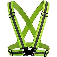 Chaleco Reflectante de Alta Visibilidad Chaleco de Seguridad Ajustable Elástico Ligero, Ideal para Deportes al
