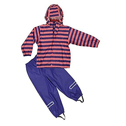 Elka Rainsuit Rain pants + Slicker for kids, striped and solid colour Colours many sizes 220g/Polyester