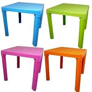 Petite Table en plastique Rose, Bleu, Vert, orange, couleur requise (veuillez préciser)
