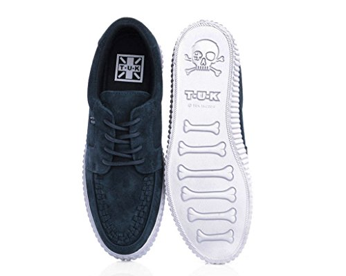 Recomendar Precio Al Por Mayor De Descuento T.U.K. Shoes Mens EZC Navy Suede White Shoe Blue Entrega Rápida A La Venta owDtipw