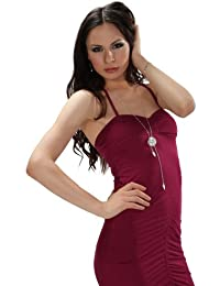cluty Fiesta Vestido con collar de poliéster vestido
