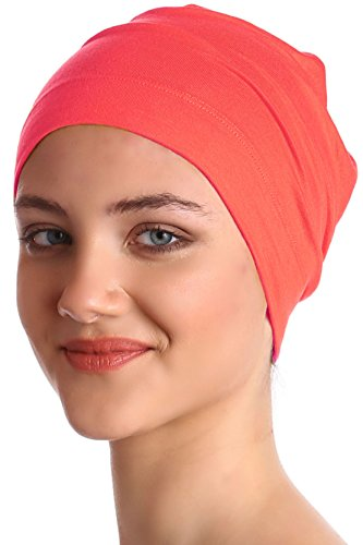 unisex-cotton-sleep-cap-coral-pink