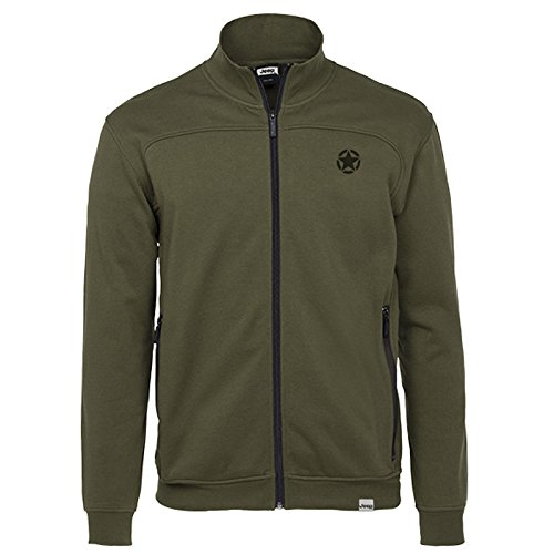 jeep-man-brushed-fleece-sweatshirt-full-zip-w-zp-sweat-en-polaire-dark-green-dark-grey-xxl