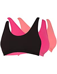 Tweens Wirefree Sports Bra with Removable Pads Pack of 3