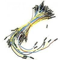 Jumper Cables (F/M) (65unidades)/adecuado para Arduino y estándar diseño eléctrico placa de pruebas y depuración/viene con conectores F/M