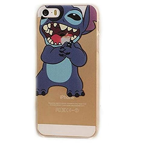 Sufs Coque transparente Disney pour Apple iPhone avec accessoire Sufs, Stitch 1, iPhone 4/4G/4S