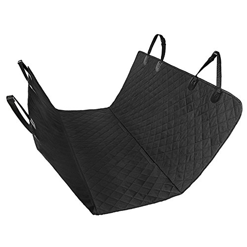 FEMOR Cubierta Asiento Protectora Impermeable de Coche Asiento para Animal para Mascota para Perros Negro (147x137x0.2cm)