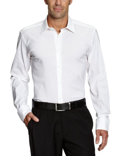 SELECTED HOMME Herren Freizeithemd Slim Fit 16016343 One Peter Canbera shirt ls (Weitere Farben) Weiß (OPT.WHITE)