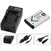 3in1-SET für die Sony FDR-X3000R / X3000 4K Actioncam --- Akku für Sony NP-BX1 (1000mAh) + 4in1 Ladegerät (u.a. mit USB / micro-USB und Kfz/Auto) inkl. PATONA Displaypad